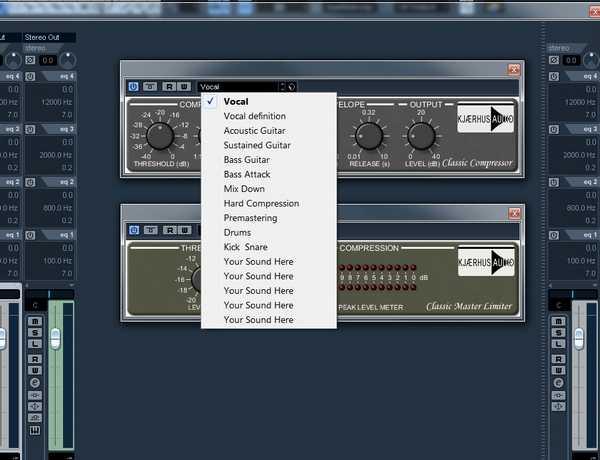 Kjaerhus Audio Compressor Presets